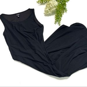 Eileen Fisher sleeveless black maxi dress